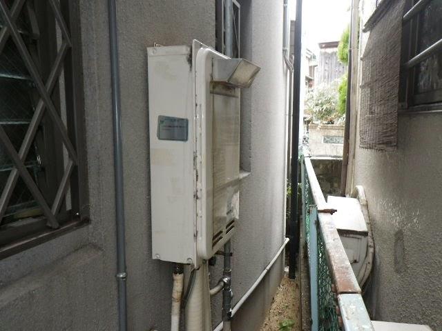 兵庫県 西宮市 戸建て住宅 ノーリツ 24号 ガス給湯器 高温水供給方式 屋外壁掛型 取替交換工事施工