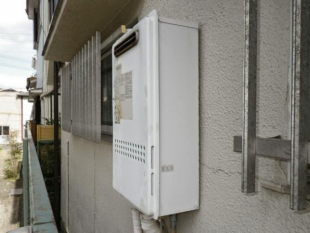 兵庫県 明石市 戸建て住宅 ノーリツ 24号 ガス給湯器 屋外壁掛型 取替交換工事施工