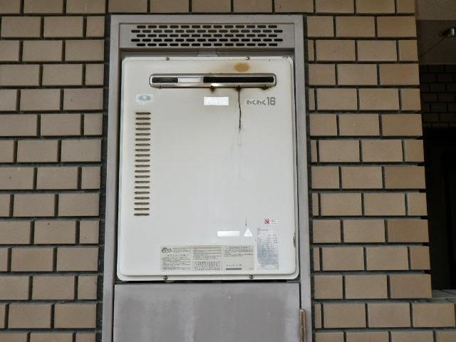 大阪府 高槻市 マンション リンナイ 16号 ガス風呂給湯器 PS標準設置形 セミオート 取替交換工事施工