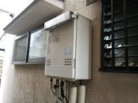 兵庫県 加古川市 戸建て住宅 ノーリツ 24号 ガス風呂給湯器 屋外壁掛型 セミオート 取替交換工事施工