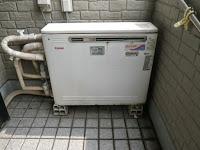兵庫県 伊丹市 戸建て住宅 リンナイ 24号 ガスふろ給湯器 エコジョーズ 屋外据え置き型 フルオート 取替交換工事施工