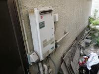 兵庫県 西宮市 戸建て住宅 ノーリツ 16号 ガス給湯器 屋外壁掛型 取替交換工事施工