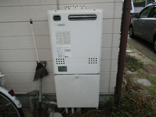 兵庫県 神戸市須磨区 竜が台 ノーリツ 24号 ガスふろ給湯器 屋外壁掛型 セミオート 取替交換工事施工