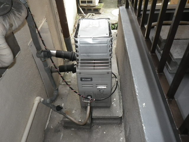 大阪府 守口市 八雲東 戸建住宅 リンナイ ガスふろがま 取替交換工事施工