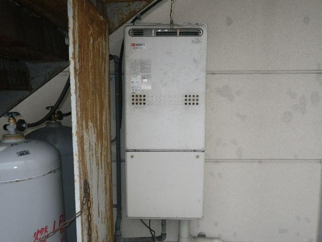 兵庫県 尼崎市 大浜町 ノーリツ ガスふろ給湯器 24号 フルオート 屋外壁掛型 取替交換工事施工