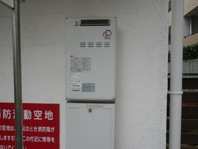 兵庫県 西宮市甲子園口 マンション リンナイ 20号 ガス給湯器 高温水供給式 屋外壁掛型 取替交換工事施工