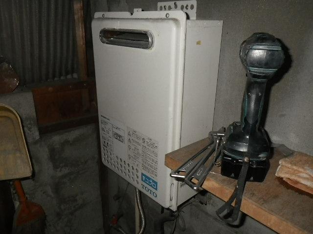 兵庫県 西宮市 笠屋町 戸建住宅 ノーリツ 16号 ガス給湯器 屋外壁掛形 取替交換工事施工