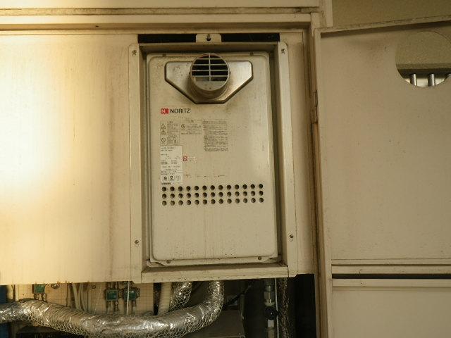 兵庫県西宮市甲陽園 マンション ノーリツ 24号 ガス給湯器 高温水供給式 クイックオート PS前方排気 取替交換工事施工