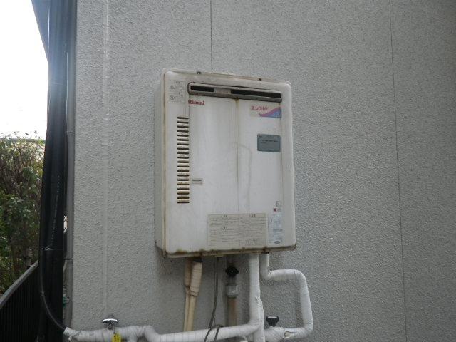 兵庫県 神戸市東灘区 田中町 戸建住宅 ノーリツ 20号 エコジョーズ ガス風呂給湯器 屋外壁掛 セミオート 取替交換工事施工