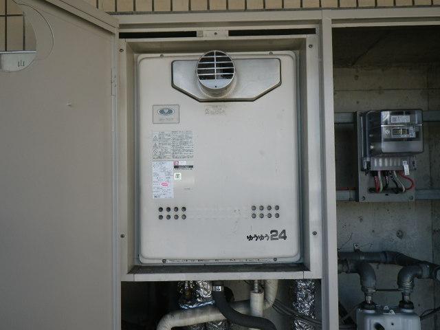兵庫県 芦屋市 平田町 マンション ノーリツ 24号 ガスふろ給湯器 取替交換工事施工 131-707 から GT-2450AWX-T-2 BL