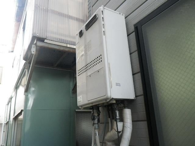 兵庫県 神戸市灘区 岩屋北町 戸建住宅 ノーリツ 24号 エコジョーズ ガスふろ給湯器 取替工事 GTH-2413AWX から GT-C2452SAWX-2 BL