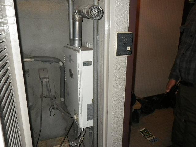 兵庫県 川西市 花屋敷 マンション ノーリツ 16号 ガス給湯器 取替工事 PH-16CWF から GQ-1637WSD-F-1