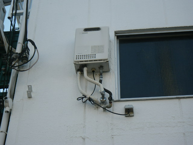 兵庫県 尼崎市 北大物町 マンション ノーリツ 16号 ガス給湯器 取替交換工事施工 GQ-1623WEからGQ-1639WS