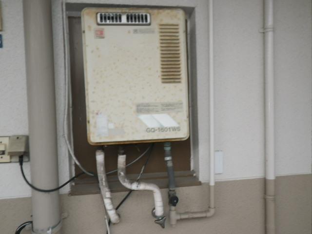 兵庫県 尼崎市栗山町 マンション ノーリツ16号ガス給湯器 取替交換工事施工 GQ-1601WS から GQ-1639WS