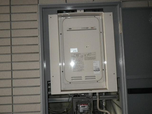 兵庫県尼崎市久々知町 マンション ノーリツ 16号 ガス給湯器 取替交換工事施工 131-8085A YV1639RM から GQ-1627AWX-TB-DX BL
