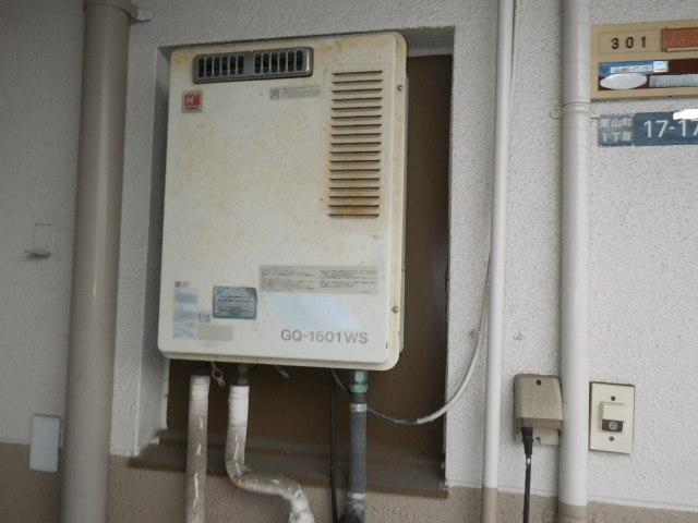 兵庫県尼崎市栗山町 マンション ノーリツ16号ガス給湯器 取替交換工事施工 GQ-1601WSからGQ-1639WS
