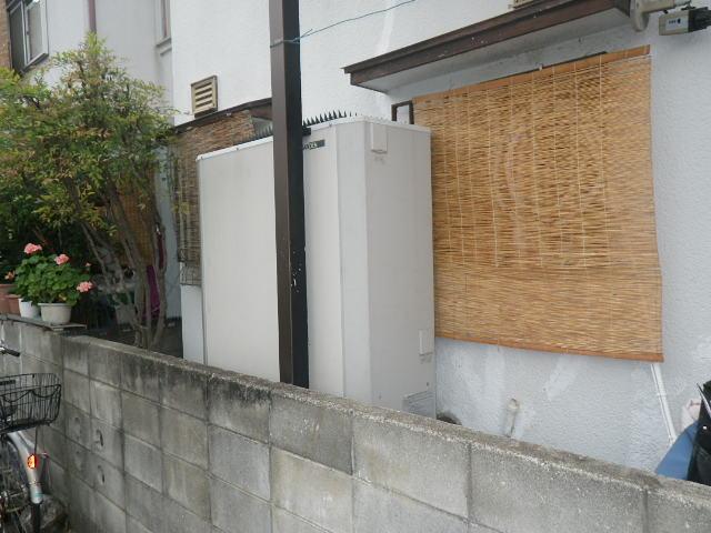 兵庫県神戸市垂水区星陵台 戸建住宅 リンナイ 24号 エコジョーズ ガスふろ給湯器 取替交換工事施工 エコキュート から RUF-E2405AW
