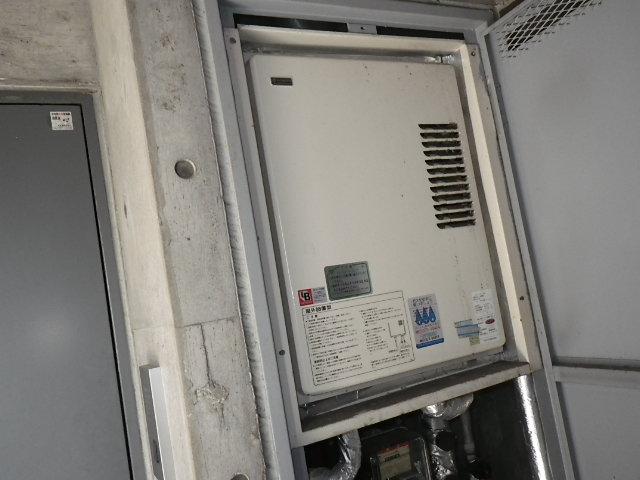 兵庫県神戸市垂水区坂上 マンション リンナイ 16号 ガス給湯器 取替交換工事施工 KS-1610H から RUX-VS1616U