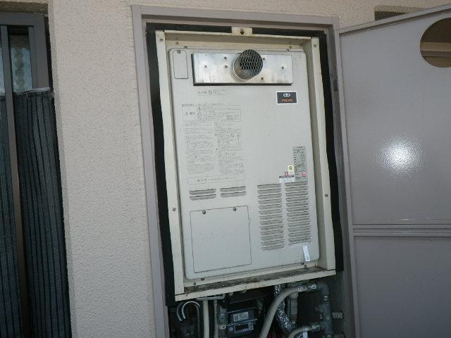 兵庫県芦屋市春日町マンション リンナイ 16号 ガスふろ給湯器 取替交換工事施工 44-131 から RUF-A1615SAT-L