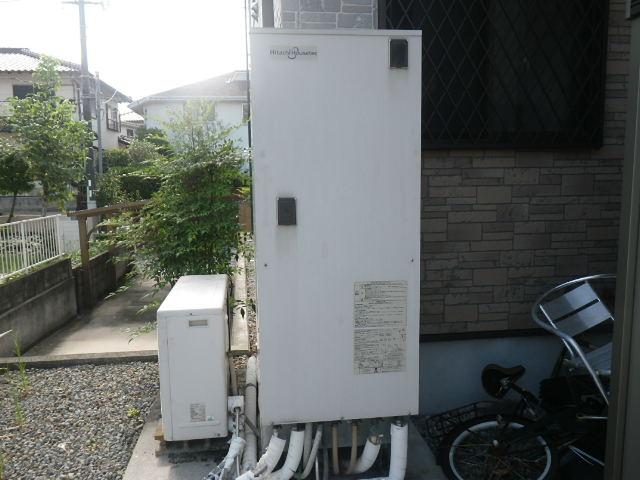 兵庫県神戸市西区 戸建住宅 日立アプライアンス エコキュート370L 取替交換工事施工 HHP-T371HAT から BHP-TA37R