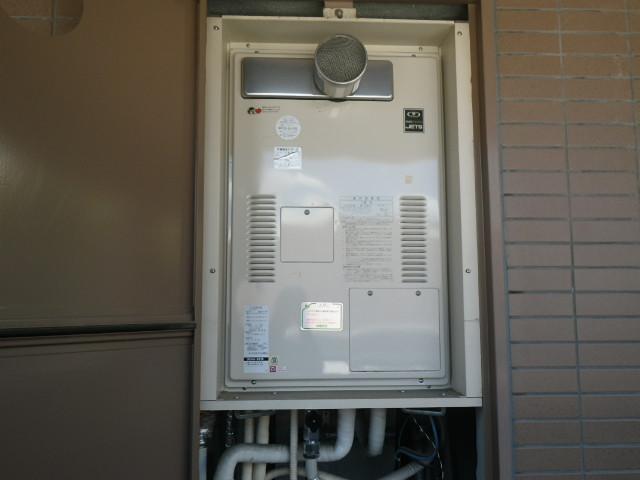 兵庫県西宮市満池谷町 マンション ノーリツ24号温水暖房付ガス給湯器 取替交換工事施工 44-991B YG2432RT から GQH-2443AWXD-T-DX BL