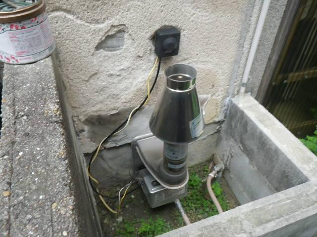 兵庫県尼崎市富松町 戸建住宅 ノーリツ16号ガス給湯器 浴室シャワー水栓 新設工事施工