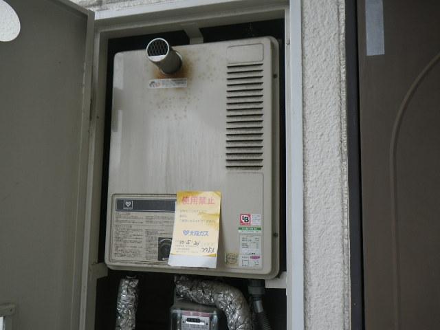 兵庫県神戸市熊内町マンション ノーリツ16号ガス給湯器 取替交換工事施工 33-692 から GQ-1637WS-T