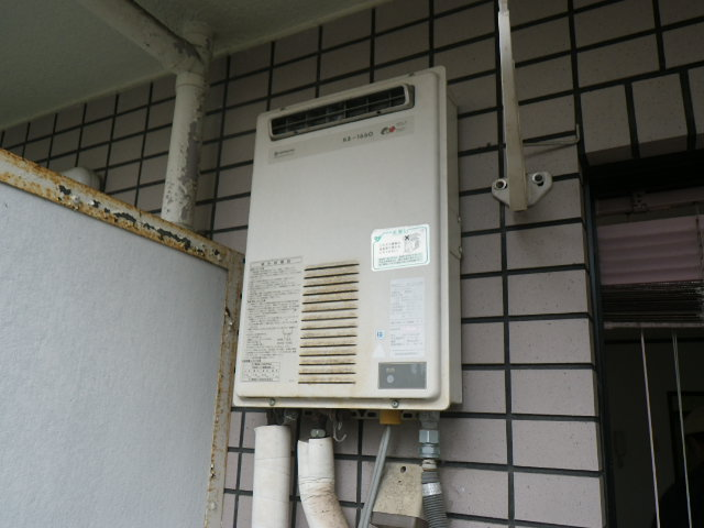 兵庫県神戸市東灘区御影本町 マンション ノーリツ16号ガス給湯器 取替交換工事施工 KS-1660 から GQ-1639WS