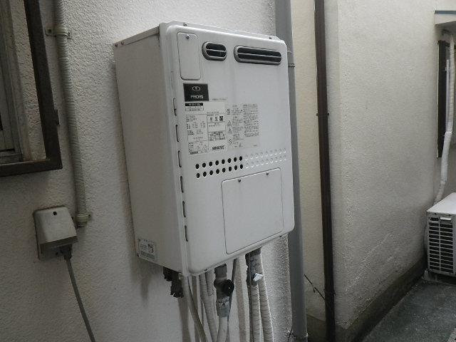 兵庫県伊丹市御願塚 戸建住宅 リンナイ24号 エコジョーズ ガスふろ給湯器 取替交換工事施工 135-2100A から RUF-E2405SAW