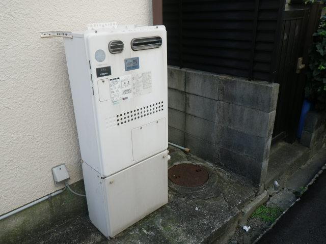 兵庫県西宮市甲子園口 戸建住宅 ノーリツ24号ガス風呂給湯器 取替交換工事施工 GT-2460SAWX