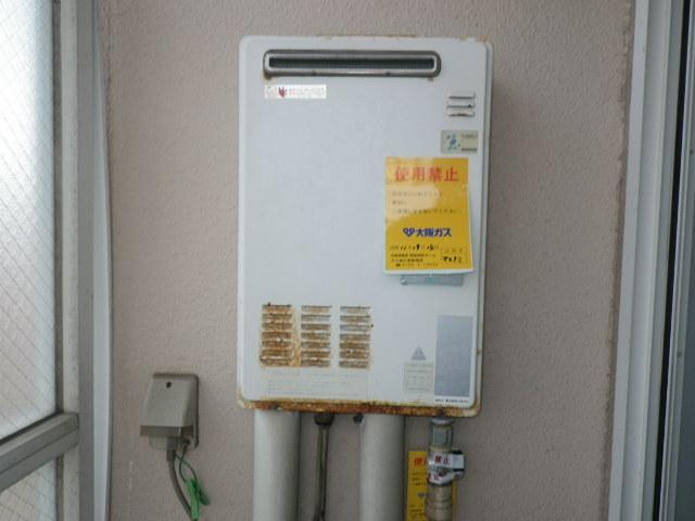 兵庫県神戸市東灘区住吉南町 マンション ノーリツ16号ガス給湯器 取替交換工事施工 OUR-1600EE から GQ-1639WS