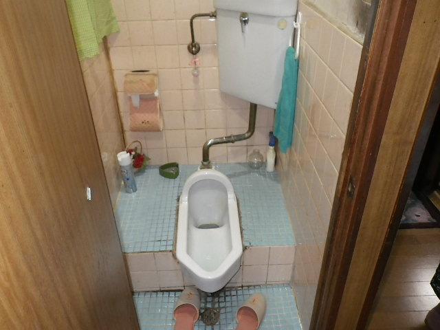 兵庫県尼崎市長洲中通 戸建住宅 和式トイレ から 洋式トイレ リフォーム工事