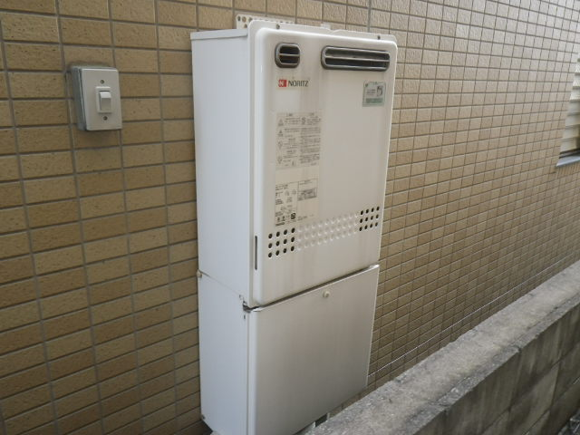 兵庫県神戸市東灘区渦森台 戸建住宅 ノーリツ24号ガスふろ給湯器 取替交換工事施工 GT-2427SAWX から GT-2460SAWX