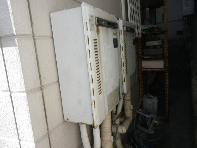 兵庫県神戸市灘区国玉通 戸建住宅 ノーリツ16号 ガスふろ給湯器 取替交換工事施工 31-624 から GT-1660SAWX