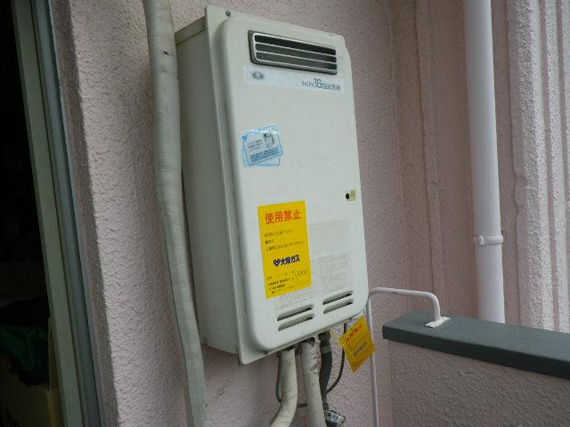 兵庫県神戸市東灘区岡本 マンション ノーリツ16号ガス給湯器 取替交換工事施工 33-390 から GQ-1639WS