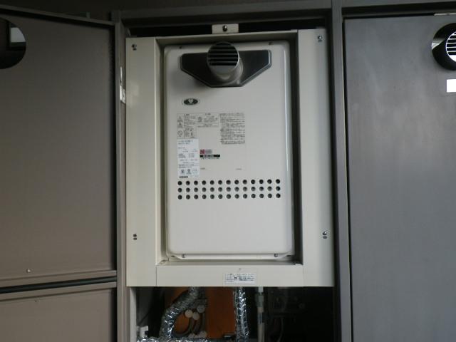 兵庫県川西市清和台マンション ノーリツ16号ガス給湯器 取替交換工事施工 GQ-1612WE-T から GQ-1637WS-T