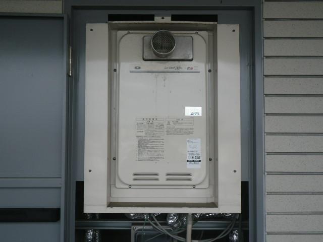 兵庫県尼崎市久々知マンション ノーリツ16号ガス給湯器 クイックオート 取替交換工事施工 131-8082A から GQ-1627AWX-T-DX BL