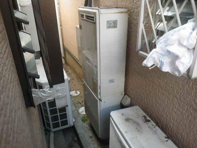 兵庫県尼崎市久々知 戸建住宅 エコジョーズ ノーリツ24号 ガスふろ給湯器 取替交換工事施工 44-270 から GT-C246AWX
