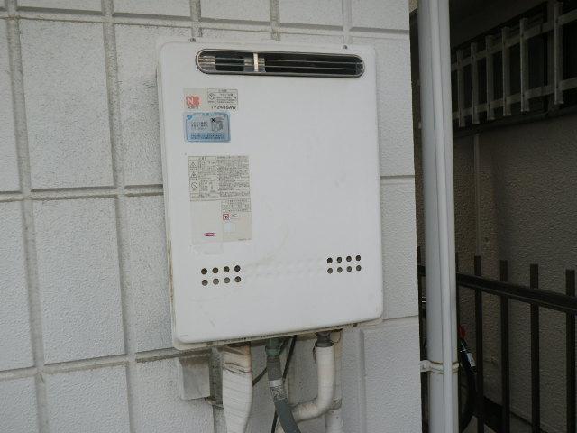 尼崎市上之島 戸建住宅 ノーリツ24号ガスふろ給湯器 取替交換工事施工 T-248SAW から GT-2460SAWX BL
