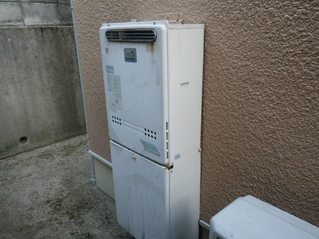 猪名川町白金 戸建住宅 エコジョーズ ノーリツ24号ガスふろ給湯器 取替交換工事施工 GT-C246SAWX