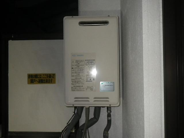 西宮市獅子が口町 マンション ノーリツ 16号 ガス給湯器 取替交換工事 GK-1620K から GQ-1639WS