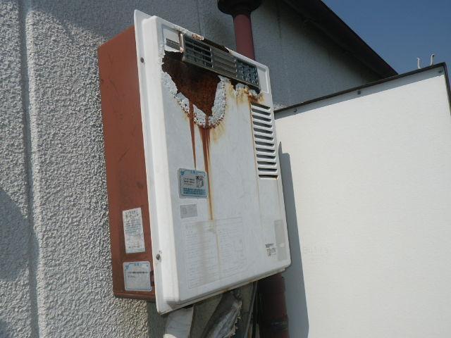 神戸市東灘区御影本町 マンション ノーリツ16号ガス給湯器 取替交換工事施工 KS-1610 から GQ-1639WS