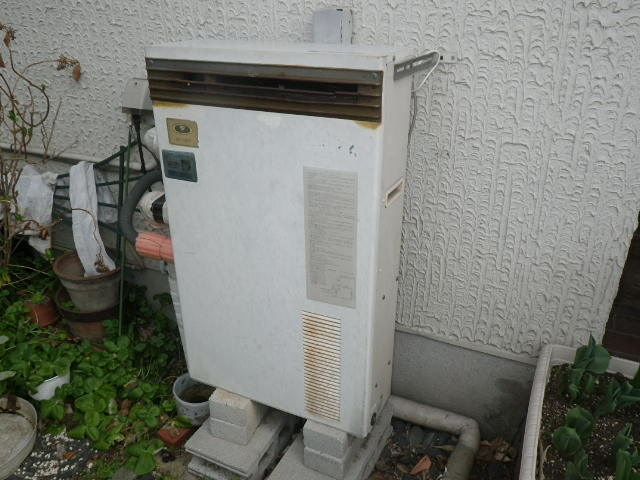 神戸市西区秋葉台 戸建住宅 リンナイ16号ガスふろ給湯器 取替交換工事施工 31-097 から RUF-A1610SAG(A)