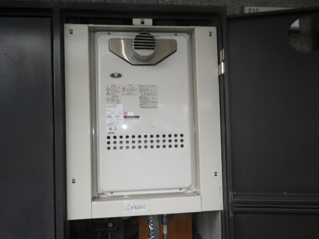 尼崎市南武庫之荘 マンション ノーリツ16号ガス給湯器 取替交換工事施工 GQ-1612WE-T から GQ-1637WS-T