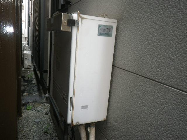 西宮市甲子園 戸建住宅 ノーリツ24号エコジョーズ ガスふろ給湯器 取替交換工事施工 GT-2412SAWX から GT-C246SAWX BL