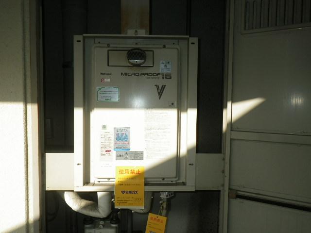 神戸市須磨区行平町マンション ノーリツ16号ガス給湯器 取替交換工事施工 GW-16T2TZ から GQ-1637WS-T