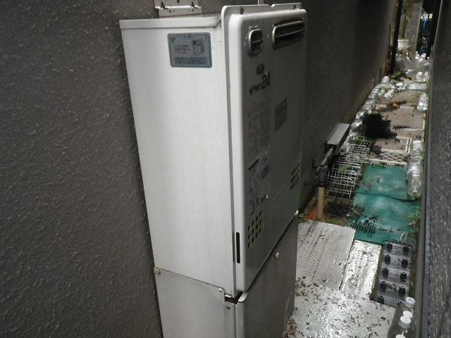尼崎市西難波町 戸建住宅 ノーリツ24号ガスふろ給湯器 取替交換工事施工 131-8200 GT-2422AWX から GT-2460AWX BL