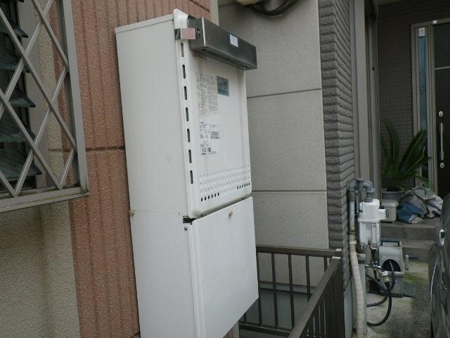 尼崎市武庫の里 戸建住宅 ノーリツ エコジョーズ 24号 ガスふろ給湯器 取替交換工事施工 GT-2428SAWX から GT-C246SAWX
