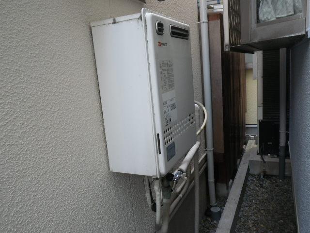 尼崎市食満 戸建住宅 ノーリツ エコジョーズ 24号 ガスふろ給湯器 取替交換工事施工 GT-2427SAWX から GT-C246SAWX BL