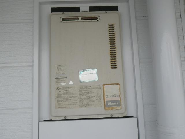 芦屋市春日町 マンション リンナイ ガス給湯器 取替交換工事施工 RUX-1000UPS から RUX-A1616W-E